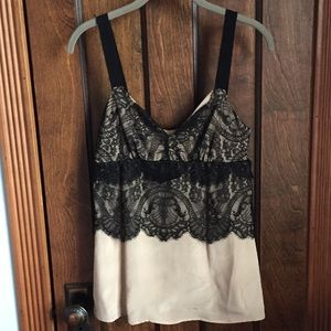 Tops - Lace embellished silk top made in Italy